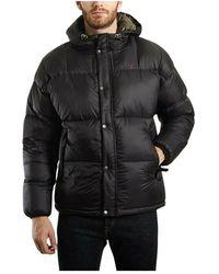 Schott Nyc Ritch hooded puffer jacket - Nero