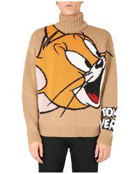 Gcds Turtleneck Sweater - Naturel