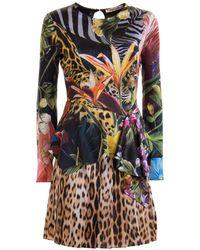 Roberto Cavalli - Jungle and leopard printed dress - Lyst