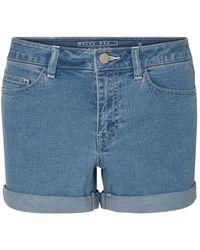Noisy May Denim Shorts - Blauw