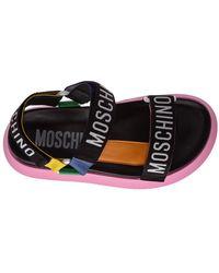 Moschino - Sandalias de cuero Negro - Lyst