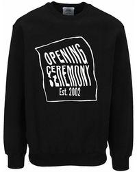 Opening Ceremony Sweatshirt Ymba003s21fle001 - Zwart