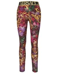 Versace Jeans Couture Baroque-print Leggings - Rood
