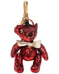 Burberry Thomas Sequins Keychain - Rood