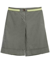 Mr & Mrs Italy Shorts With Embroidery - Groen