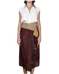 Ibrigu Foulard Skirt - Bruin