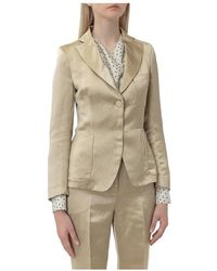 L'Autre Chose Blazer With Pockets - Geel