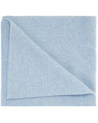 Ganni Sciarpa lavorata a maglia - Blu