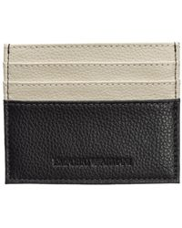 Emporio Armani Men's Genuine Leather Credit Card Case Holder Wallet - Bruin