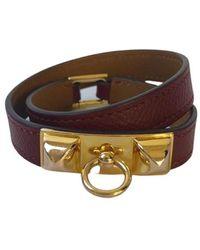 Hermès Bracelet Rivale Double - Rosso