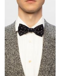 Etro Patterned bow tie Negro