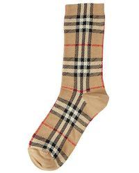 Burberry Vintage Check Intarsia Socks - Naturel