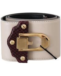 Dolce & Gabbana Wide Waist Belt - Naturel