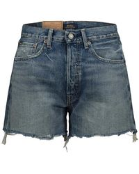 Polo Ralph Lauren Embroidered Boyfriend Shorts - Blauw