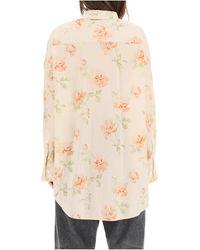 R13 Ruffled oversized shirt Beige - Neutro