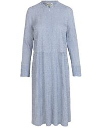 Mads Nørgaard Crinckle Pop Dupina Dress 60782 - Blauw