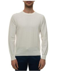 Canali Round-necked Pullover - Wit