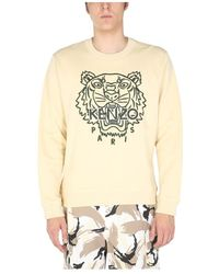 KENZO - Crew Neck Sweatshirt With Tiger Embroidery - Lyst