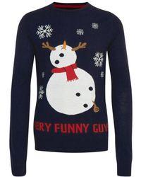 Blend Kersttrui Funny Guys - Blauw