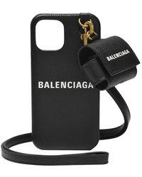Balenciaga Iphone And Airpods Case - Zwart