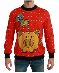 Dolce & Gabbana Pig Of The Year Sweater - Rood