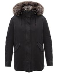 Yves Salomon Fox Fur Parka - Groen