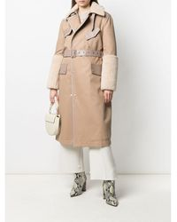 Mr & Mrs Italy Shearling AND Leather Trench - Neutro