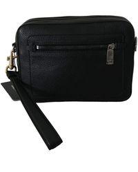 Dolce & Gabbana Clutch Hand Purse Pouch Borse Leather Bag - Schwarz
