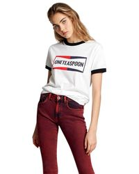 One Teaspoon Ringer t-shirt - Blanco