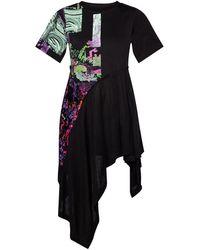 DIESEL Dress with asymmetrical hem - Nero