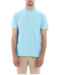 Polo Ralph Lauren Slim Fit Polo Shirt - Blauw