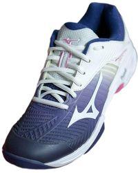 Mizuno Wave Exceed Tour 3 CC Sneakers Morado - Azul