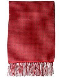 Woolrich Geruit Design Sjaal - Rood