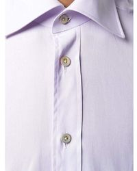 Kiton Shirt Morado - Multicolor