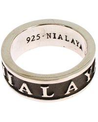 Nialaya Ring Gris - Blanco