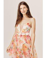 For Love & Lemons Peony Maxi Dress - Geel
