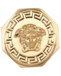 Versace Medusa And Greek Ring - Geel