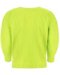 Issey Miyake T-Shirt Verde