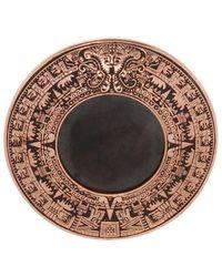 Midgard Paris Mayan Calendar brass brooch - Braun