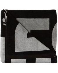 DIESEL Handdoek Met Logo - Zwart