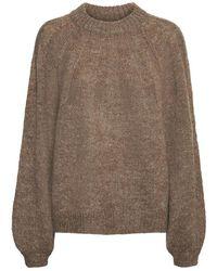 Noisy May Muri L/s Knitwear - Bruin