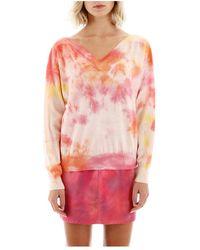 MSGM Tie-dye Sweater - Oranje