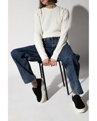 Eytys Embroidered sweater Blanco