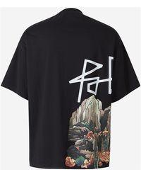 Palm Angels T-Shirt Skull desert Negro