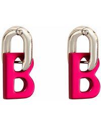 Balenciaga B Chain Xs Earrings - Roze