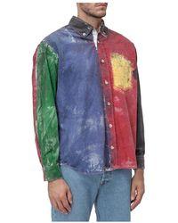Tigran Avetisyan Painted Shirt - Blu