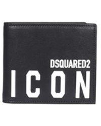 DSquared² Portemonnee - Zwart