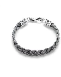 Emanuele Bicocchi Flat braided bracelet - Gris