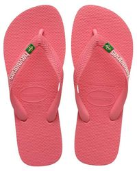 Havaianas Chanclas Brasil Logo - Roze