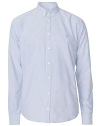 Les Deux Christoph Oxford Shirt - Blauw